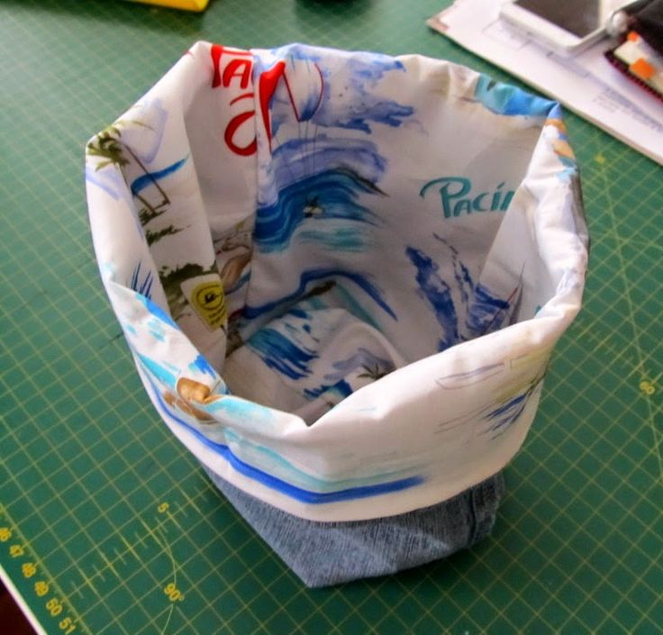 OrloSubito it: Con i jeans....un cestino portatutto: tutorial