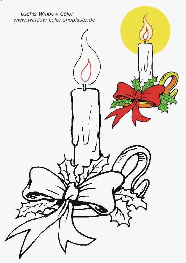 weihnachtsvorlagen  vorlagen ausdrucken kerzen
