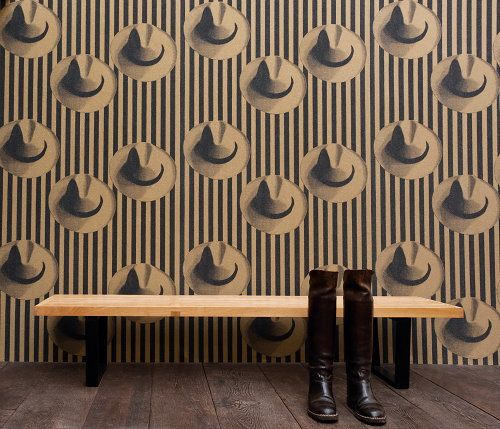 'You can leave your head on!' Revival Retro Style Interior Decoration - Élitis Wallpaper Heads - Mix of Country Style & Vintage City Life Wallpaper!