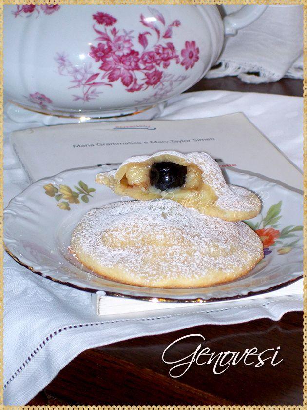 Genovesi (Pastry desserts with cream filling. Maria Grammatico's recipe)