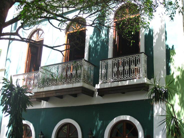 San Juan: maison coloniale dans la vieille ville (Porto Rico)