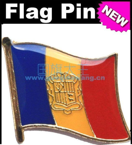 Lapel Pins Andorra Flag Pins All Over The World Badge Emblem Country State Pins
