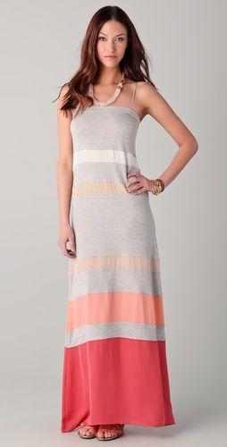 Haute Hippie Multi Striped Maxi Dress: Summer Fashion, Multi Stripes, Cute Maxi Dresses, Stripes Maxi Dresses, Haute Hippie, Closet, Jersey Dresses, Dresses 3, Striped Maxi Dresses