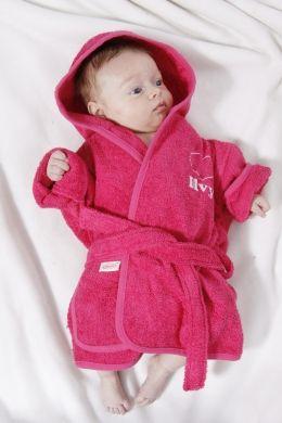 Baby badjas met naam. Ontwerp het zelf!