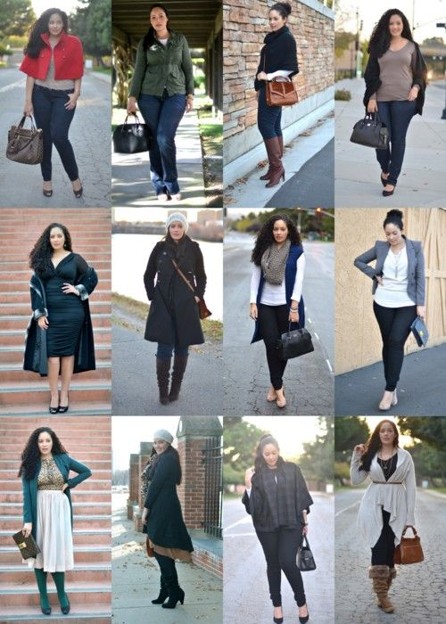 November 2011 plus size outfits---I would try all of these outfits!