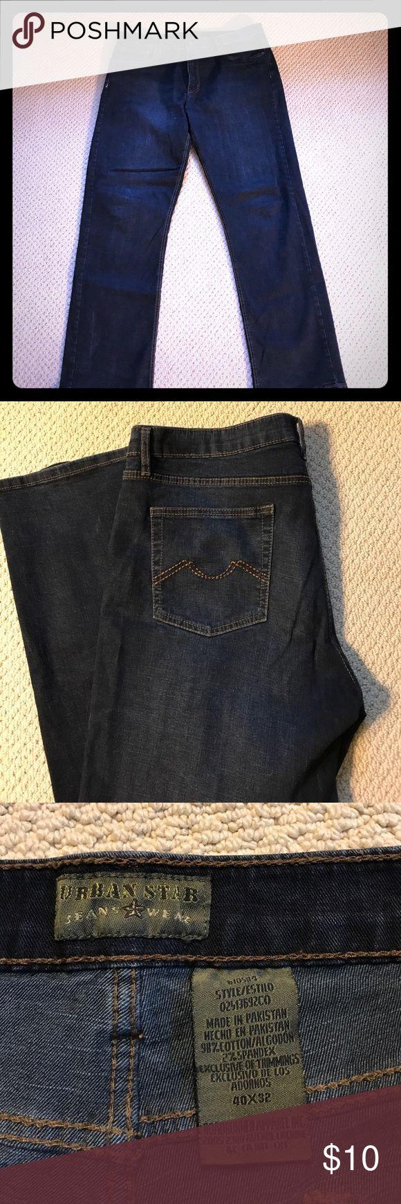 Men's jeans. Men's Urban Star dark jeans. Size 40x32. Urban Star Jeans Straight