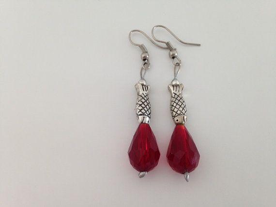 Crystal Fish Earrings por FlamingoImportMiami en Etsy