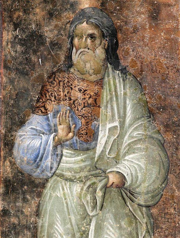 Святой праотец. Фреска церкви Святой Троицы в Сопочанах. XIII в.