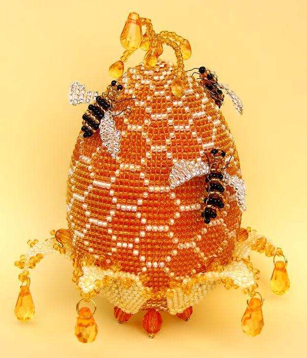 beaded bee hive