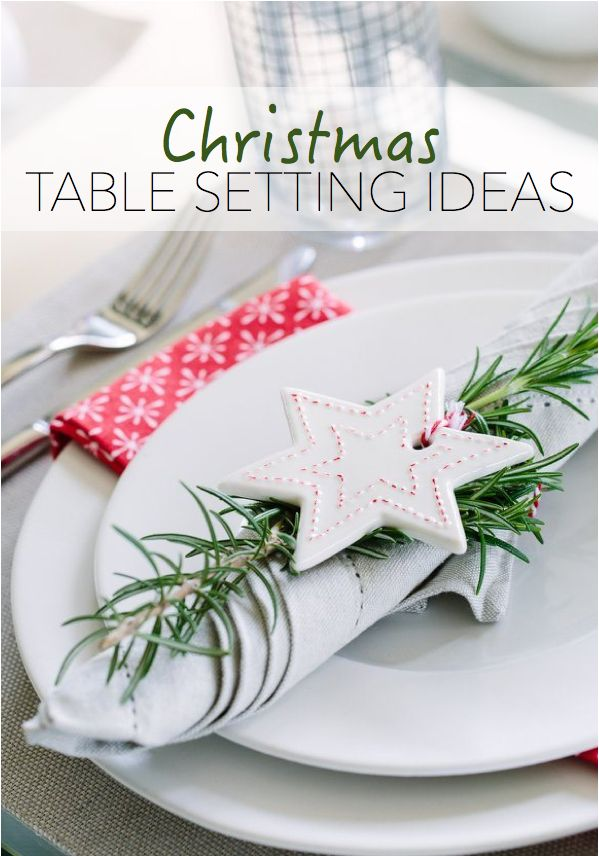75 best christmas images on pinterest christmas table for Christmas lunch table setting ideas