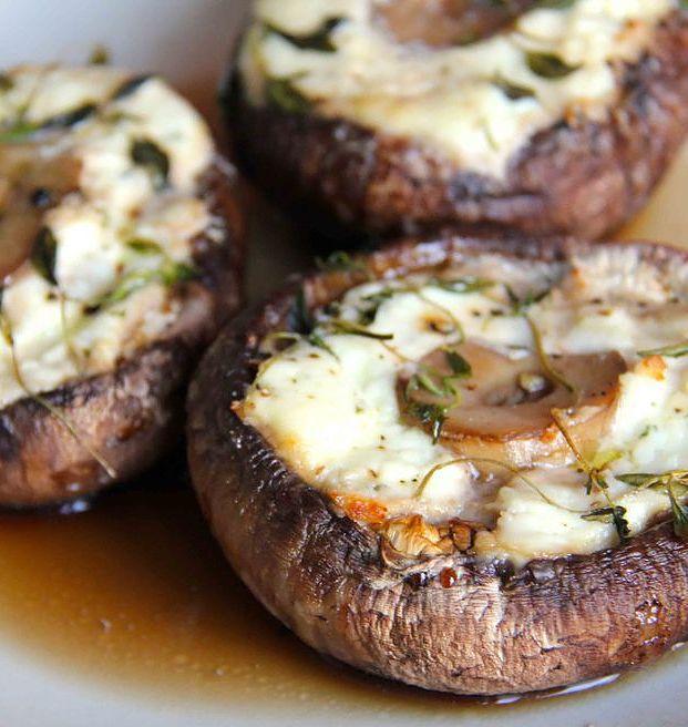 Koken met jessica snelle simpele en gezonde recepten gevulde portobello met kaas van de bbq - Ideeen van voorgerecht ...
