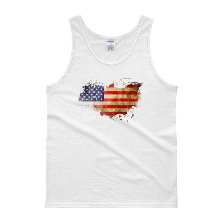 Vintage - American Flag - Tank top