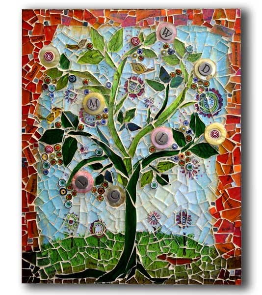 Mosaic Monday, Tree Of Life by Art Dog