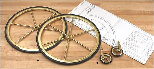 Brass Tea Cart Wheels and Plan - Woodworking | Rolling