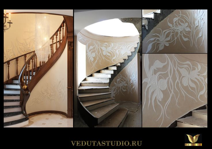"""Барельеф """"Цветы"""" от Veduta Studio."""