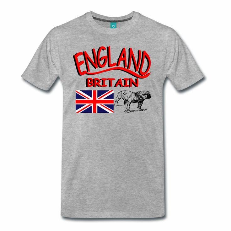 England Shirt mit Britischer Flagge und eine britische Bulldogge!
