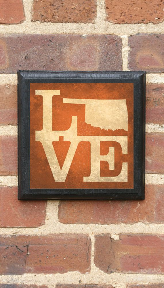 Oklahoma Ok Love State Wall Art Sign Plaque Gift Present Home Decorators Catalog Best Ideas of Home Decor and Design [homedecoratorscatalog.us]