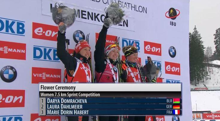 Le podium de Marie Dorin Habert. :) #biathlon