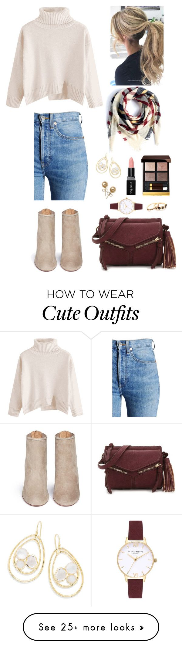 """Thanksgiving Outfit"" by youareoriginal on Polyvore featuring RE/DONE, Aquazzura, Ippolita, Eloquii, Violet Ray, Gorjana, Olivia Burton, Bling Jewelry, Tom Ford and Smashbox"