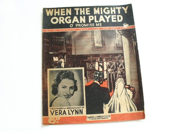 1930s sheet music  When the Mighty Organ Played by RetroDelia