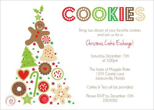 Christmas Tree Cookie Swap