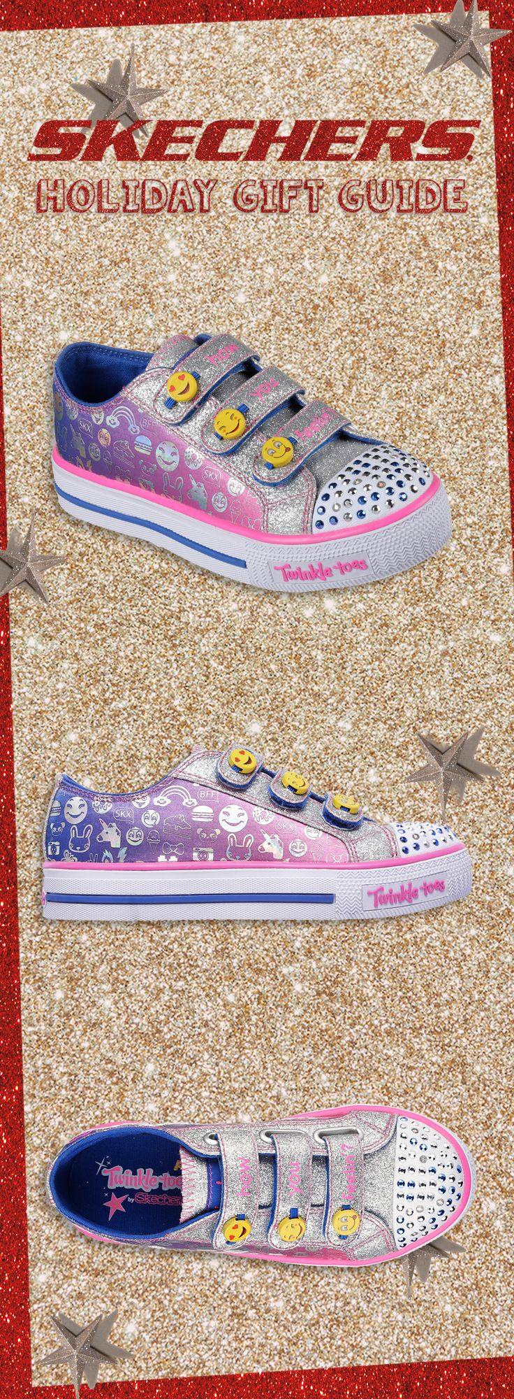 The perfect holiday pair for your little Expressionista. #SKECHERSkids