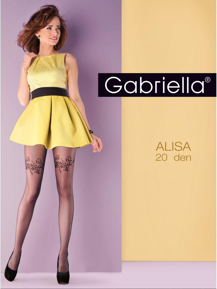 Gabriella Alisa vzorované pančuchy