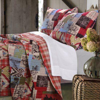 Loon Peak Owasco Reversible Quilt Set Size: Full/Queen Quilt Set