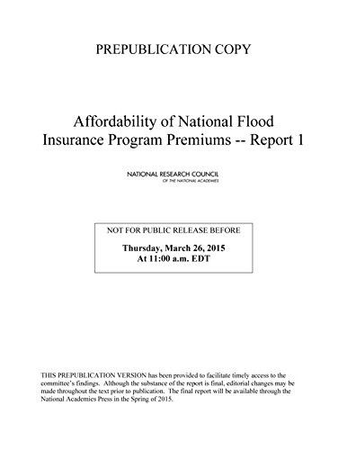 Affordability of National Flood Insurance Program Premiums: Report 1