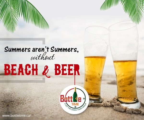 Beach without #Beer, is a summer-vice! 😉  Order your Beer ☎️ 403-918-3030  🌐www.bottletime.ca