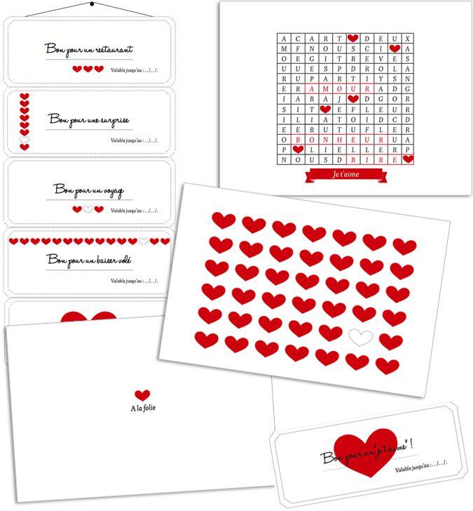 Des cartes et des bons à imprimer pour la Saint Valentin ! - Vie de Miettes
