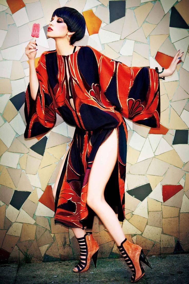 [] #VogueJapan [] #KikoMizuhara [] photographed by Ellen von Unwerth [] February 2014