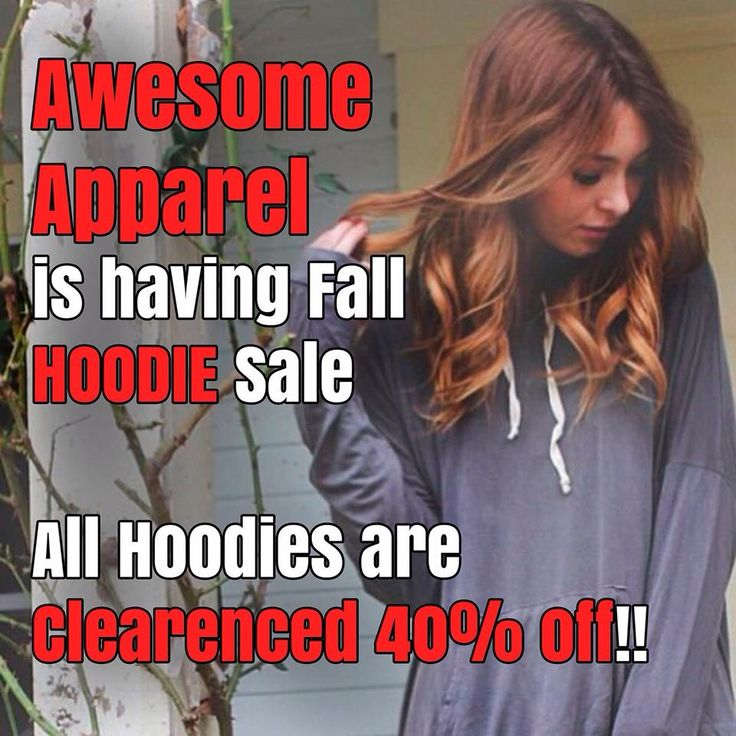 Pick up your custom hoodies from www.facebook.com/awesomeapparelscreenprinting All hoodies on clearance!