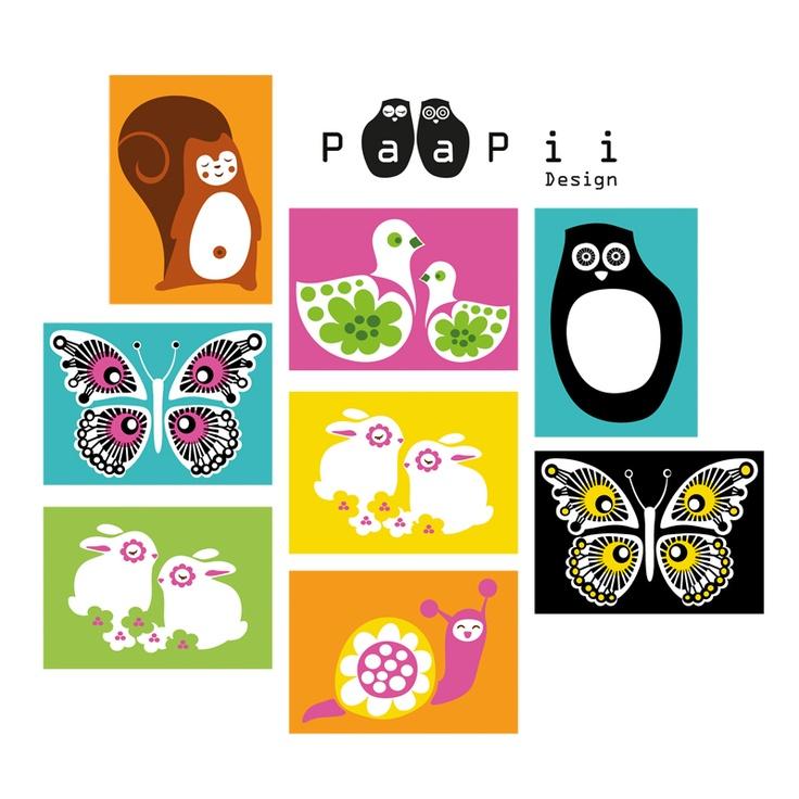 PaaPii Design - Postikortit 16kpl 18,00