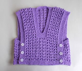 This cute little baby top was inspired by a photo of a beautiful Turkish knitted baby vest.