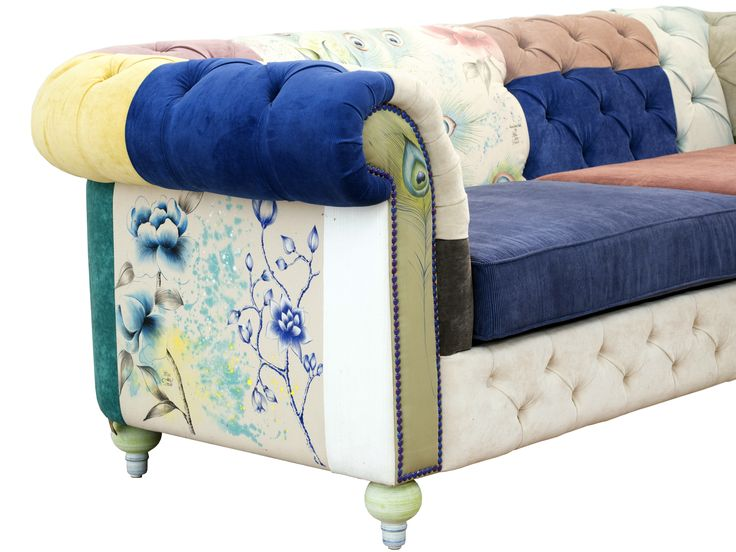 Fetes des Tissus fabric paintings on furniture