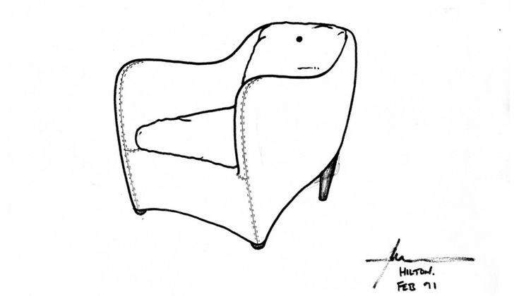 Balzac Armchair & Footstool | Club armchair, Iconic ...