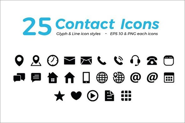 free professional photo realistic contact icons website icon png