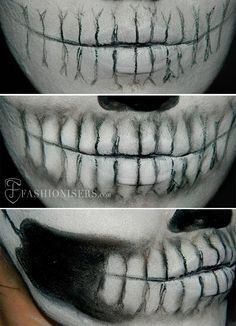 Lady Gaga Inspired Halloween Skull Makeup Tutorial  #halloween #halloweenmakeup #makeuptutorial                                                                                                                                                                                 More