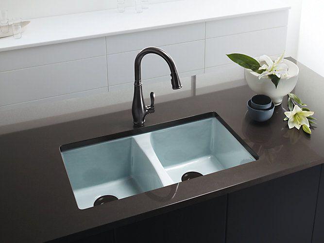 Deerfield Undermount Kitchen Sink W Five Faucet Holes K 5873 5u Kohler Kohler Kohler Kitchen Sink Sink Kitchen Sink