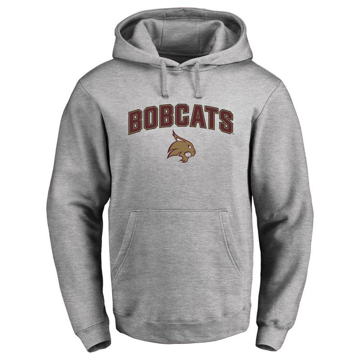 Texas State Bobcats Proud Mascot Pullover Hoodie - Ash -