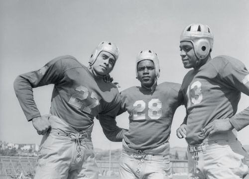 It was on a football scholarship that Strode was able to go to UCLA in the first place. This was at a time when black athletes were not often seen in college sports, and certainly not on professional sports teams.  With only a few dozen playing on the other college teams, UCLA boasted four African American players on their 1939 UCLA Bruins football roster.