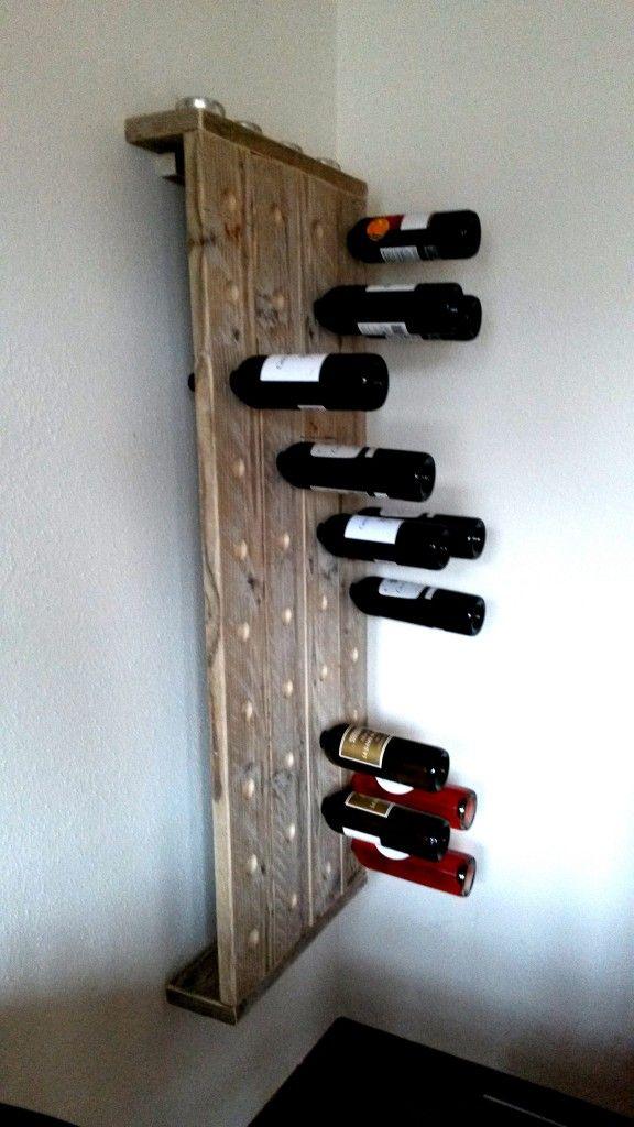 Weinregal aus Gerüstplanken