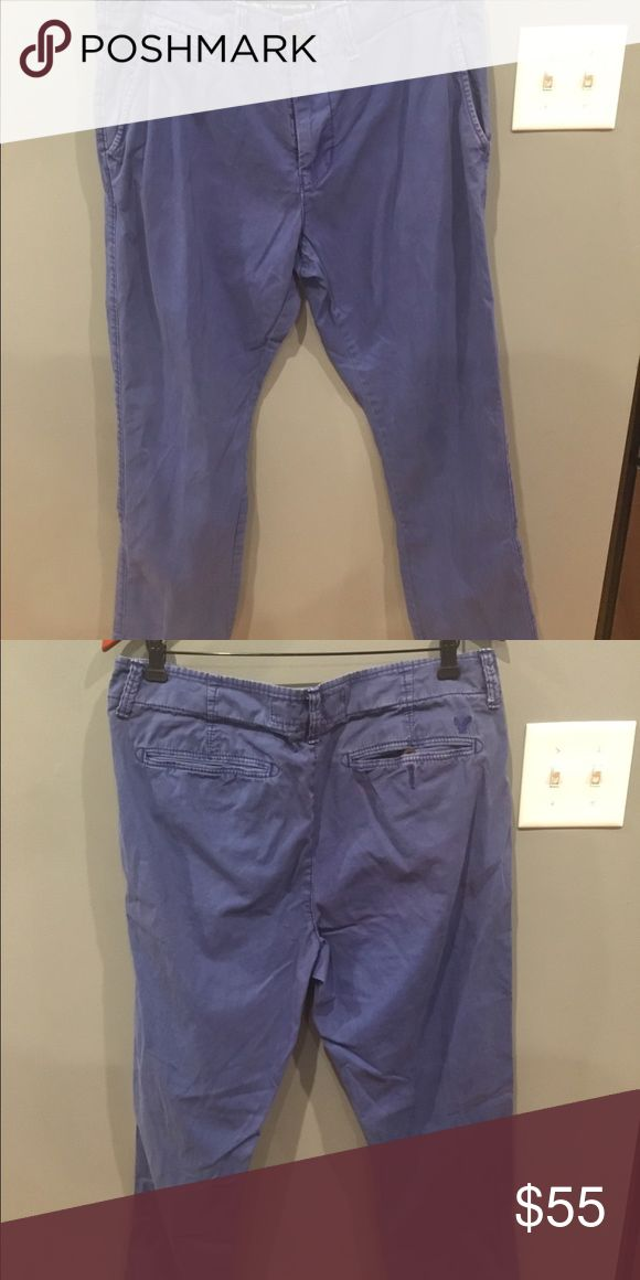 American Eagle Slim Fit Blue Khakis American Eagle Slim Fit Blue Khakis worn once American Eagle Outfitters Pants Chinos & Khakis