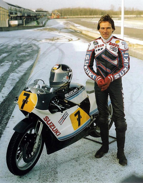 Barry Sheene – I hope it was just a presentation and he didn't have to ride his bike in those weather conditions…
