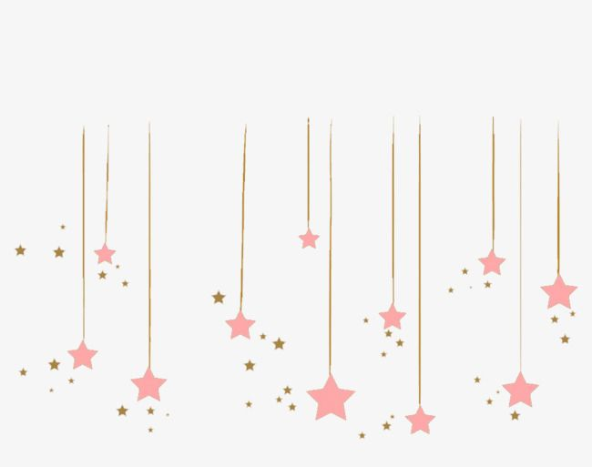 Pink Star Pendant Star Clipart Star Decorative Material Png