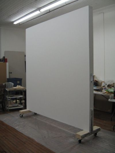 Rolling wall created for a painter in SoHo NY as a studio