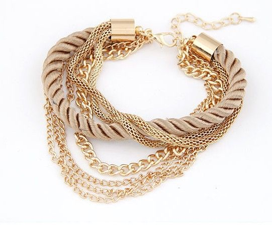 Min. order $10(Mix order) 2014 Fashion hot sale Charm Chain Gold Bracelets Jewelry,jewelry for women ACO1027-in Chain & Link Bracelets from Jewelry on Aliexpress.com