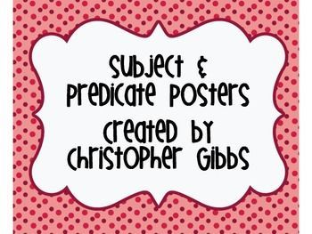 Free Subject and Predicate Poster and Activity                                                                                                                                                                                 More