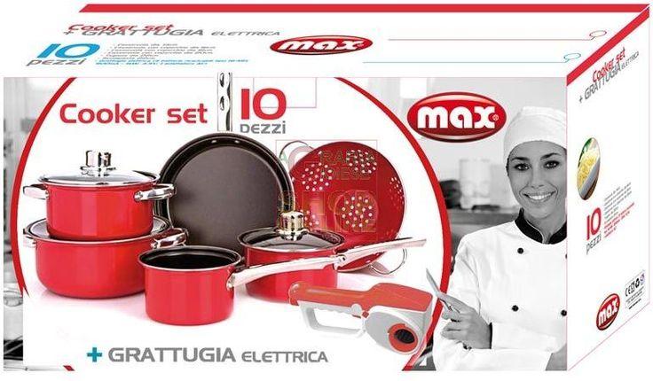 MAX BATTERIA 10PZ-COOKER SET+GRATTUGIA ELET https://www.chiaradecaria.it/it/max/10947-max-batteria-10pz-cooker-set-grattugia-elet-8017365027346.html